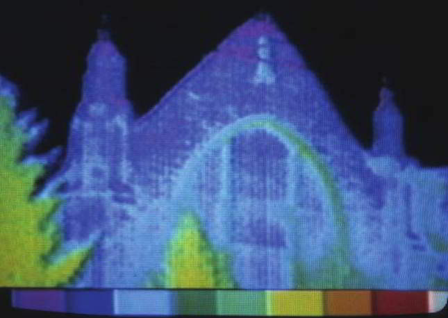 Thermal imaging of religious buildings to see heat loss