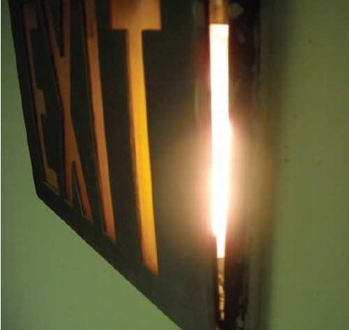 Rudin advises exit signs should be lit with light-emitting diodes
